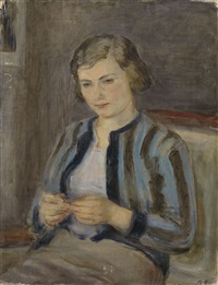 portrait of the artist's wife by leonid volstein