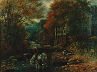 watering hole by the mill by charles d. hoover