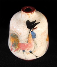 woman and a rooster - vase by polia pillin