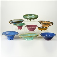 bowls (9 works) by fulper pottery