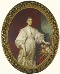 chariclée furstin zu hohenlohe-schillingsfurst, née princess ypsilanti (1863-1912) by hans makart