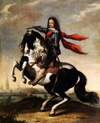 prinz waldemar christian von dänemark im harnisch zu pferd by wolfgang heimbach