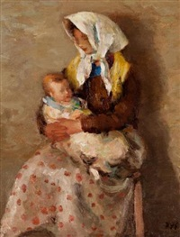 mother & baby by marcel dyf