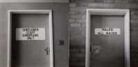 apartheid en rhodésie, au sous-sol et au 1er étage d'un ministère (diptych) by paul almasy