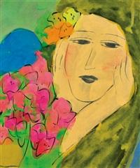 portrait de jeune femme by walasse ting