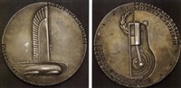 general motors twenty-fifth anniversary medal by norman bel geddes