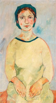 the artist's wife by pinchas litvinovsky