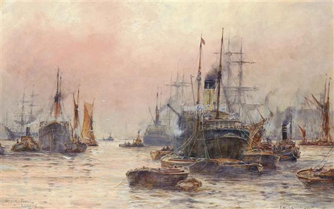 the upper pool london by frederick william scarborough