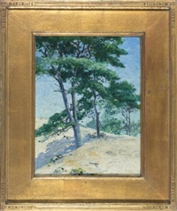 landscape with trees by henry stephens eddy