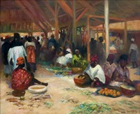 le marché by lucien laurent-gsell