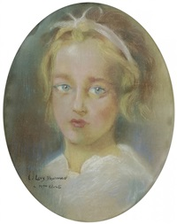 portrait de jeune fille by lucien lévy-dhurmer