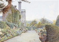 the terrace, gwydyr by ernest arthur rowe