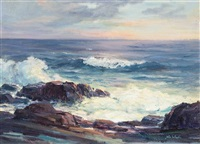 coastal scene by john whorf