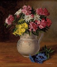blumen in vase by maria kistler