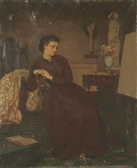 a lady artist, inspiration by ernest gustave girardot