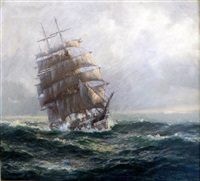 clipper in full sail by john allcott