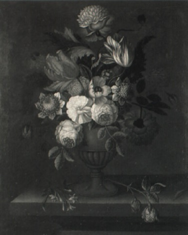 still life of summer flowers by mary moser