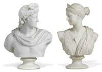 apollo belvedere (+ diane chasseresse, lrgr; pair) by pietro barzanti