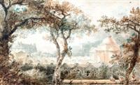 vue de la chapelle expiatoire de louis xvi by pierre françois léonard fontaine