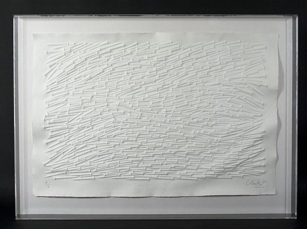 horizontale nagelstrukturen by günther uecker