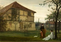in the old orchard - an ancient abbey, kent by edward henry fahey