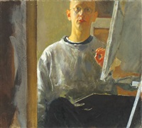 self portrait in a studio by amnon david ar