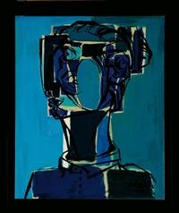 mujer en azul by salvador aulestia
