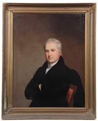 portrait of seated gentleman by joseph greenleaf cole