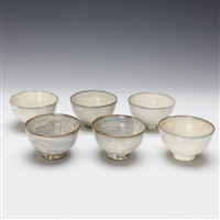 bowls (set of 6) by kitaoji rosanjin