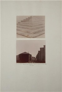 court buildings, steps, new york, ny (+ suburban housing project, jersey city, nj; 2 works) by dan graham