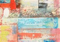 die allerbesten wünsche von hannah. glückwunschkarte (+ another, monotype, smllr; 2 works) by hannah höch