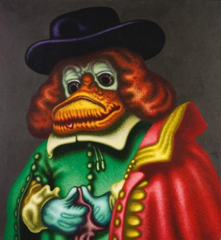 the rembrandt duck by peter saul