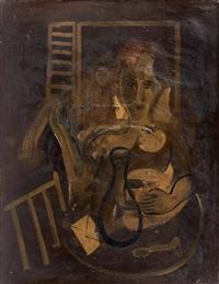 femme devant la fenêtre by francisco bores