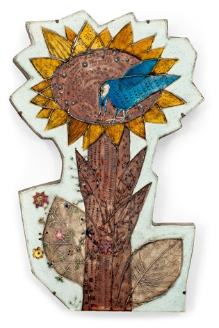 relief sunflower by rut bryk