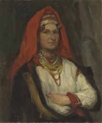 peasant woman from the ieezdrinksy district, of the province of kaluga by ekaterina vasilevna goldinger