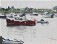 lobster boats by xiaogang zhu