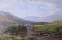 shilley bridge, near south brent (+ on the lyd, dartmoor; pair) by william (of plymouth) williams