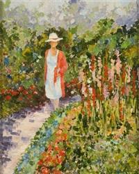 la promenade dans le jardin by albert rigaux