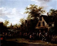 village kermesse by e. ruytenbach