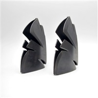 modernist bookends (pair) by albert paley