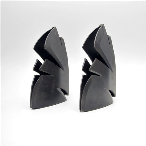 modernist bookends pair by albert paley