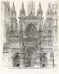 lace in stone, rouen cathedral by john taylor arms
