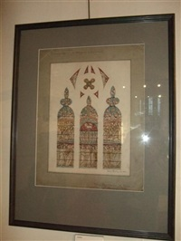 untitled (design for stained glass in mossley hill church, liverpool) by henry george holiday
