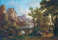 weite landschaft mit hirtenidylle by agostino aglio