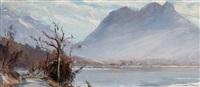 brouillard sur le fond du lac by etienne albrieux