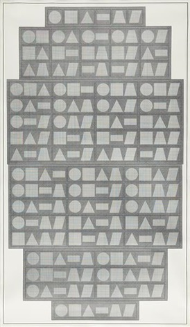all one two three four five six part combinations of six geometric figures by sol lewitt