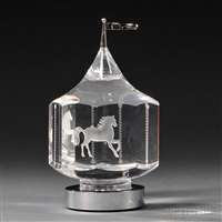 carousel sculpture by steuben glass