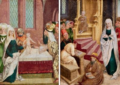 die beschneidung christi der zwölfjährige christus unter den schriftgelehrten pair by austrian school tyrolean 16