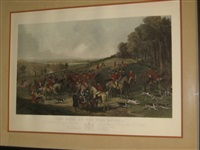 the meet of the vine hounds (after h. calvert) by william henry simmons