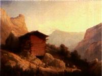 bergers dans la montagne by hippolyte leymarie